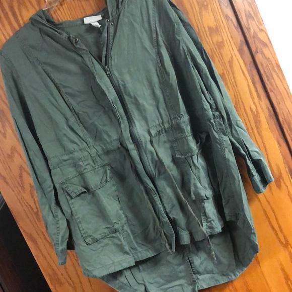 da54e3762 Ava & Viv high low draw string hooded jacket camo